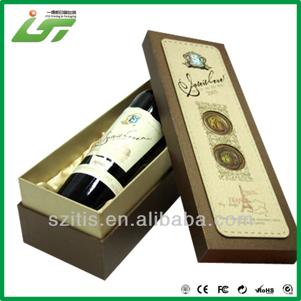 2016 customized high quality cardboard wine box for sale