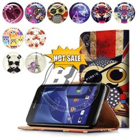 2015 china suppliers wallet stand printed pu leather flip back cover case for sony xperia z2