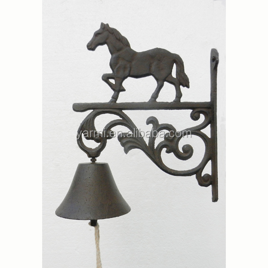 CAST IRON DOOR BELL WITH HORSE