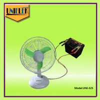 small battery rechargeable fan solar solar dc solar desktop fan with led lamp