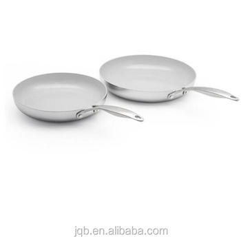 Professional Stainless Steel Satin Polishing Deep Frypan