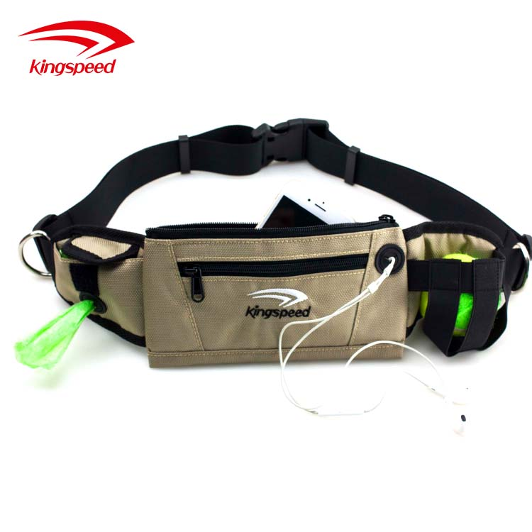 Workout Sports Running Waist Belt bag Hands Free Dog Leash