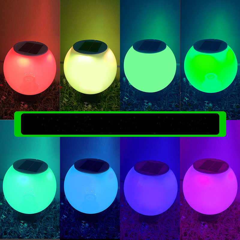 Solar wall lamp Waterproof solar lights outdoor garden solar garden light with 7 color changing