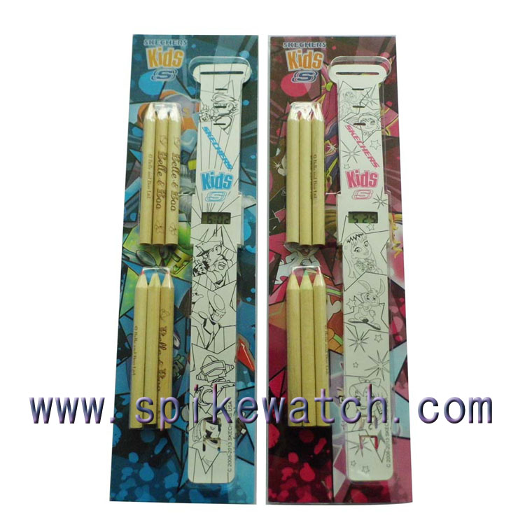 Gift Set Popular with Pencils DIY Watch, Paper Watch, Children Watch