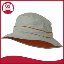 Deep bucket hat side band with size adjustable string
