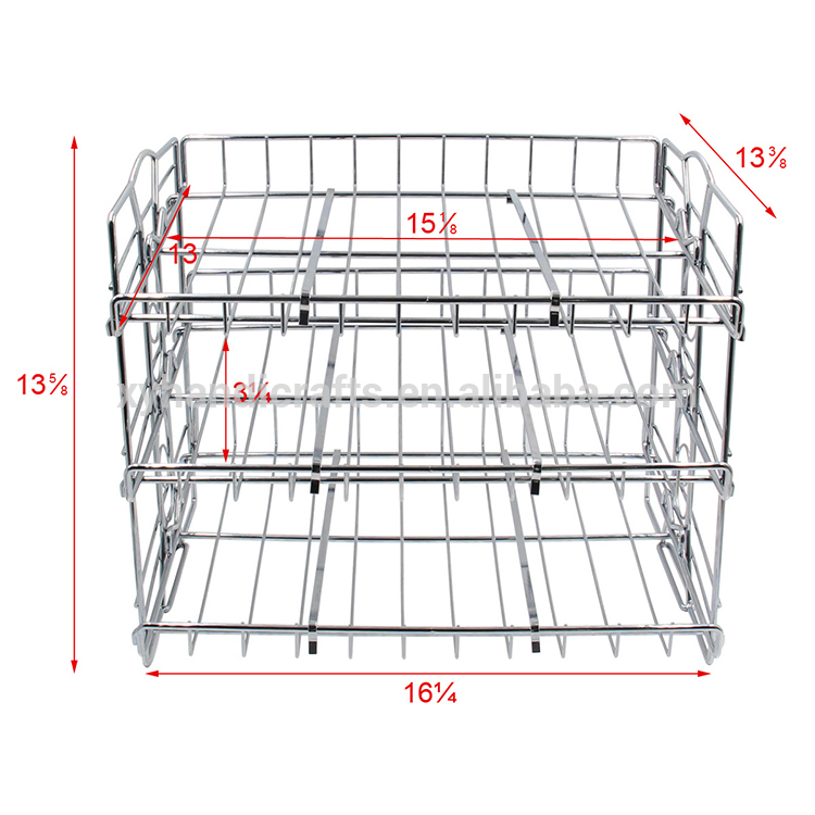 Chrome Finish Canned Food Metal Display Rack,Stackable Can Rack Organizer For Kitchen