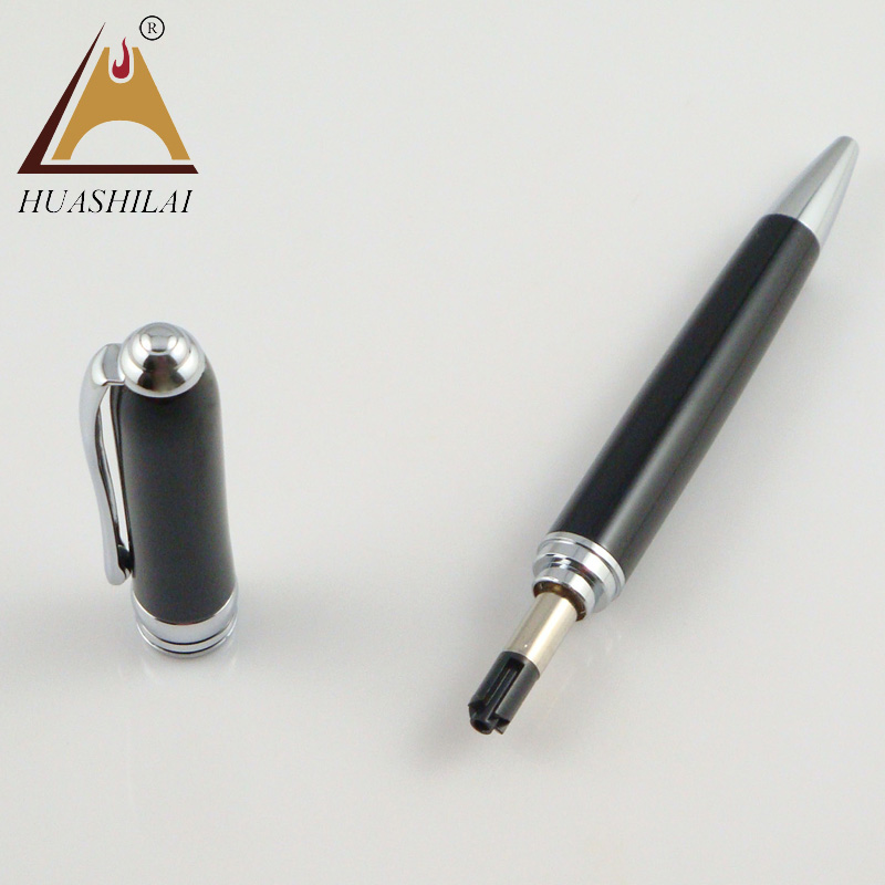 Exquisite black and silver fountain pen free design logo for business gift