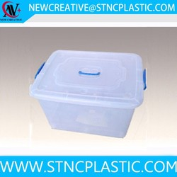 durable large storage box container for clothing lid attached