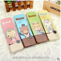 wholesale single layer cute animal design kids pencil case