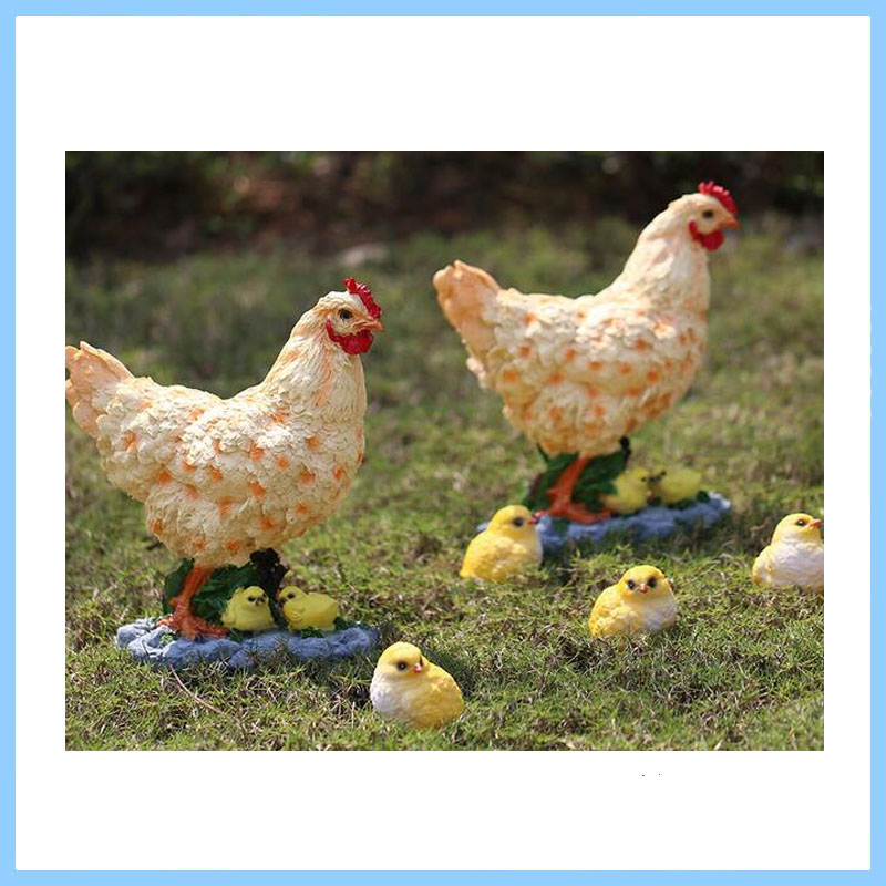 Resin Hen with Chick ,High Quality Resin Souvenir,Resin Animal Figure