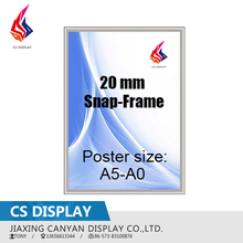 20mm A4 aluminum poster display snap frame