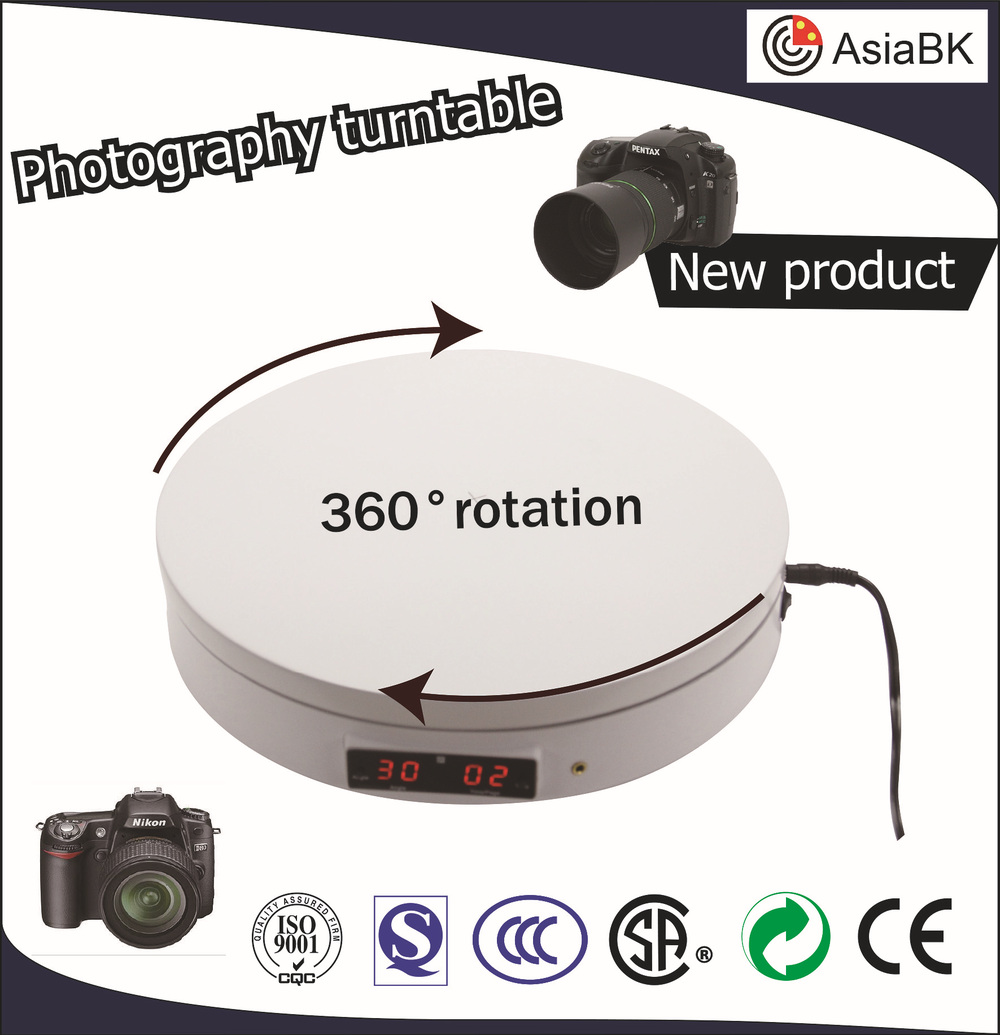 3D photography rotating display motorized plastic turntable 360 degrees spinning
