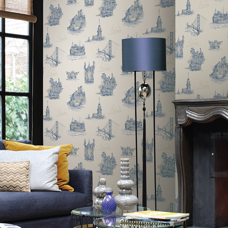interior decorative classic design wallpapers wall coating