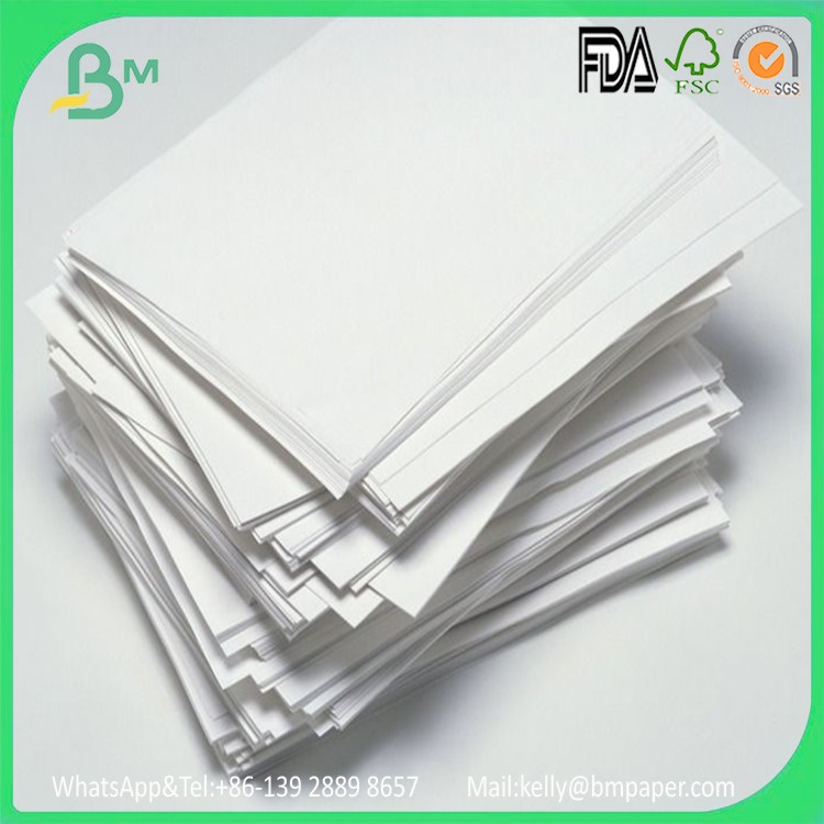 Reclycled 70gsm printing white color woodfree book paper in reel