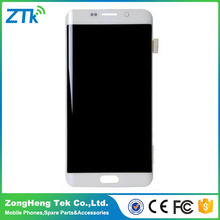 100% guaranty LCD Display Touch Screen Digitizer Assembly For Samsung Galaxy S6 Edge+Plus with frame