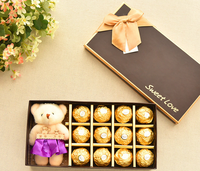 Exquisite gift chocolate packaging paper box with bear