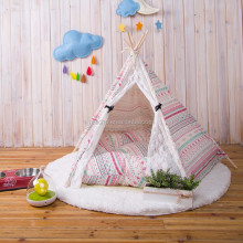 Cotton Canvas Wooden Pole Pet Dog Tent