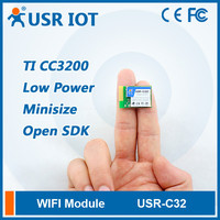 USR-C322 Ultra-Low Power Serial UART Wifi Module with TI CC3200 Solution Support TCP/UDP Client Registered Package Mechanism