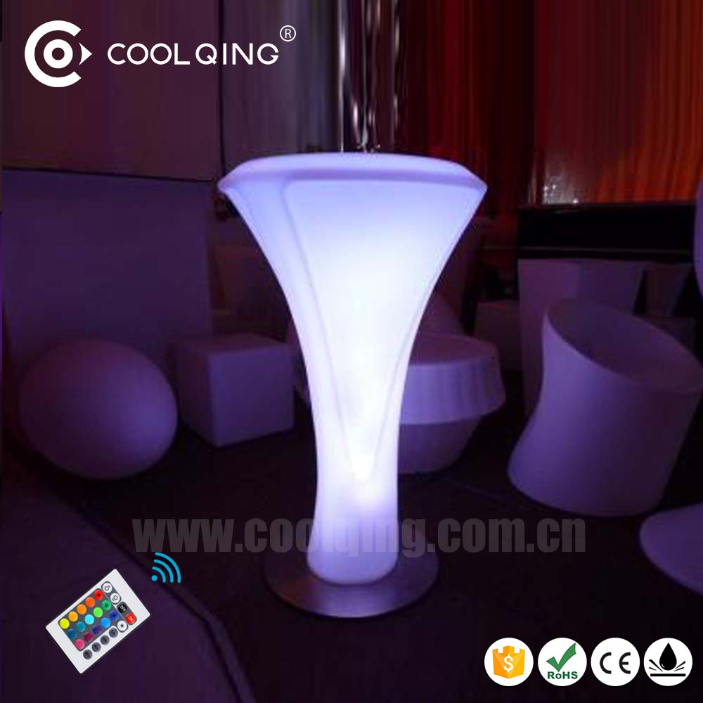 Amazing 16RGB Color remote adjustable wiress waterproof outdoot event pub club furniture led light up table bar