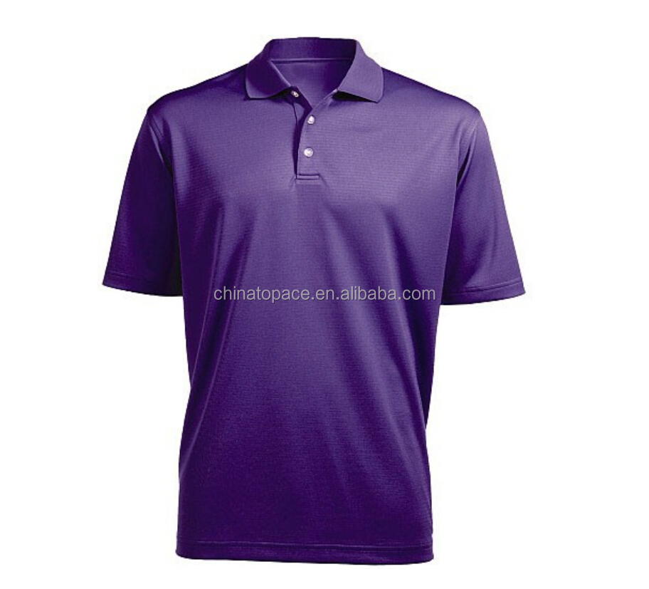 100% polyester Performance Moisture Wicking Outdoor Men's polo Shirts / Men's Sports Golf polo T shirt Wholesale
