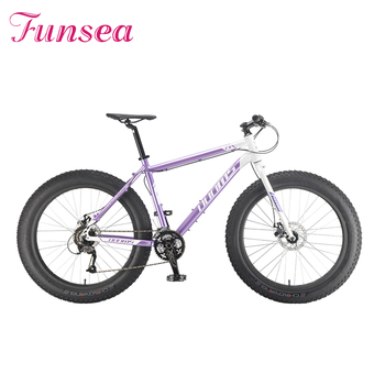 Funsea extreme sport cycle manufacturer fatbike wholesale cheap 26'' snow cruiser bicycle bicicleta fat bike