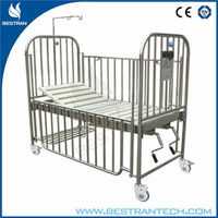 BT-AB104 Hospital stainless steel new born baby cot crib infant bed for kids picture