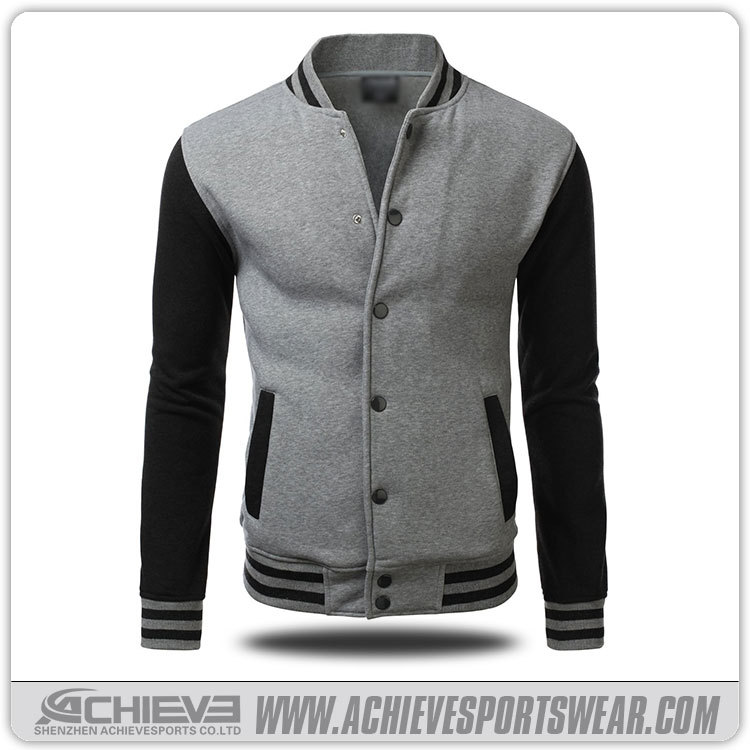 2016 custom wool varsity jackets, jacket men with leather sleeves