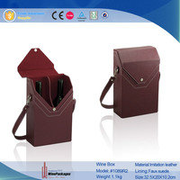 hot new products mamufacturer wine bag,2 bottle wine box
