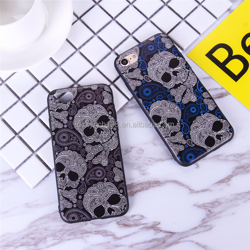 2017 newest 3d design magic skull cartoon cell phone case for iPhone 6/ 7/7 plus