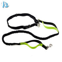 Factory Directly Sales Adjustable Hands free Dog Lead Walking Running Jogging Waist Belt Leash