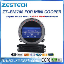 "2 din 7"" touch screen car dvd for BMW mini cooper/ Countryman car dvd gps ZT-BM708 In-Dash Navigation automobile parts"