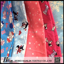 disposable cotton flannel fabric for car cleaning cloths/animal printed 100% cotton flannel fabric for baby kids
