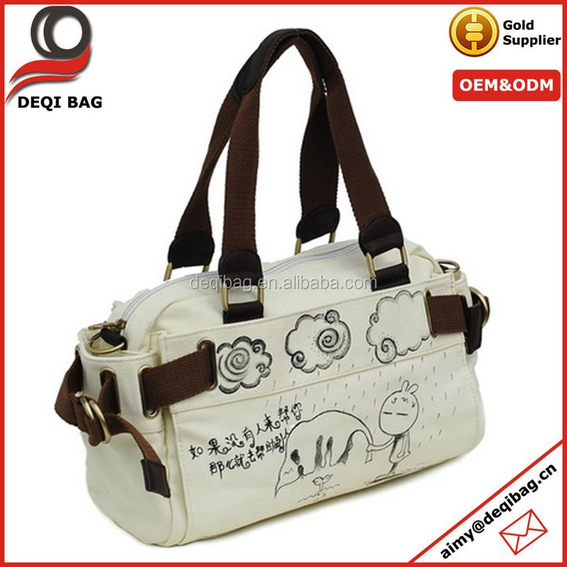 Help others Canvas Messenger Tote Handbag