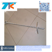 Galvanzied fence ground anchor / ground screw anchor for fence/ screw stake