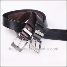 classic man belt/black genuine leather belt /covered with buckle HM-1044