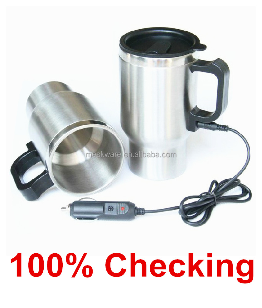 450ml double wall stainless steel electric mug, electric heating cup, electric thermos mug