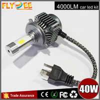 Super bright 4 side led headlight COB 4000LM high low beam H4 h13 9004 9007 High power 4 side car led headlight