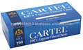 Filtered Cigarette tubes Cartel 100's BLUE