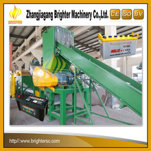 SUS316 Waste PP PPO ABS car battery case crushing washing drying pelletizing recycling plant