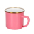 wholesale custom 0.5mm thickness carbon steel camping enamel sublimation mug with gold rim