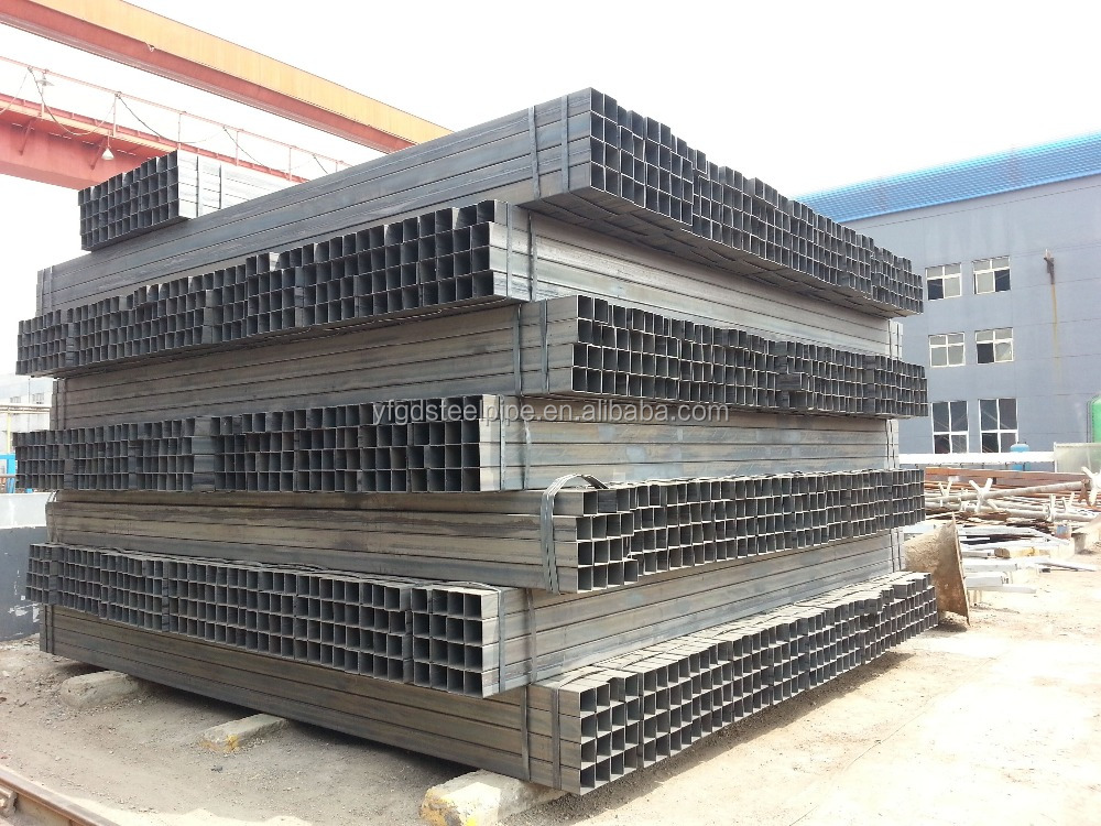Mild steel Square/rectangular tube used for construction structure, pipe price list