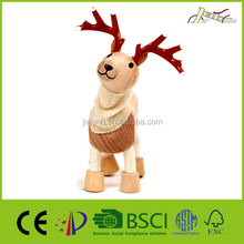 Wood Craft Reindeer Animal Wooden Education Toy for Children