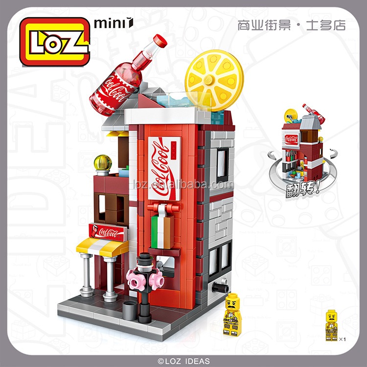LOZ Street Convenience Store DIY MIN Building Bricks Blocks for Christmas gift