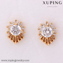 24810-Xuping Plated alloy diamond studded gold earring