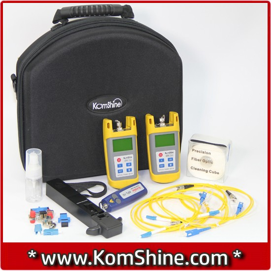 omShine Optical Loss Test Kit KLT-25M-F/Best Optical Loss Tester/OPM/OLS/VFL/Fiber Identifier