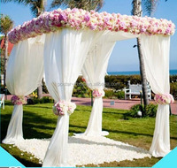 Telescopic crossbar and upright wedding indian backdrop design