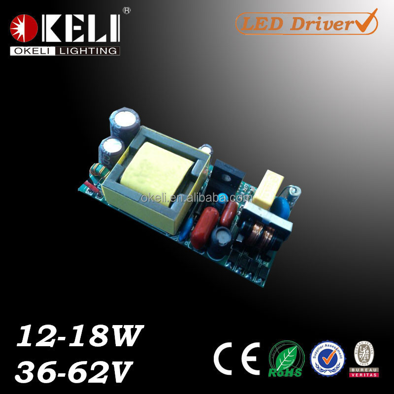 300mA 12-18W 36-62V Constant Current Led Driver