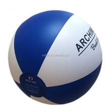 white and blue 40cm beach ball inflatable balloons with logo for promotion