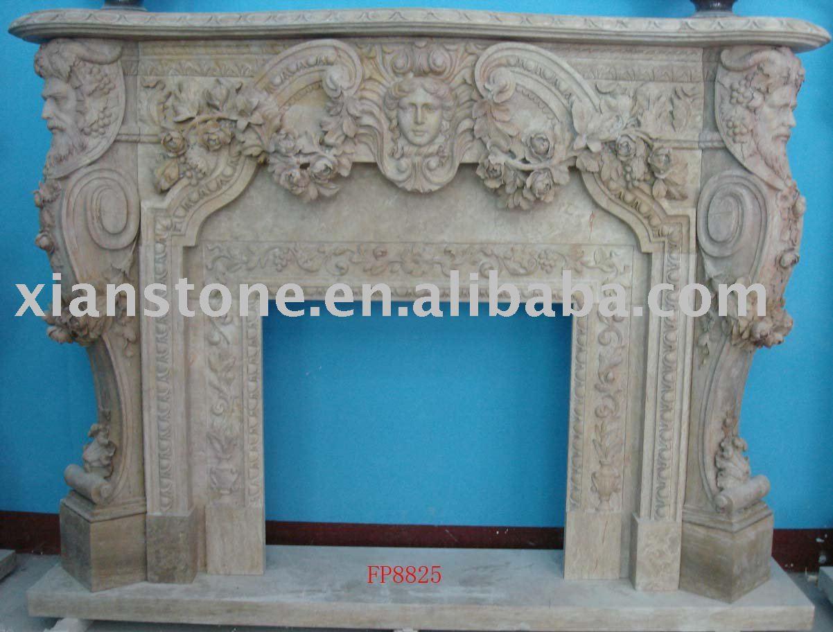Marr n dise o marmol chimenea repisa de la chimenea - Repisas de marmol ...