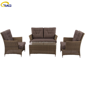 All Weather Wicker Furniture Rattan Outdoor Sofa Set with Good Service